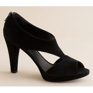 ✨🐾 J. Crew Alicia suede peep toe pumps heels